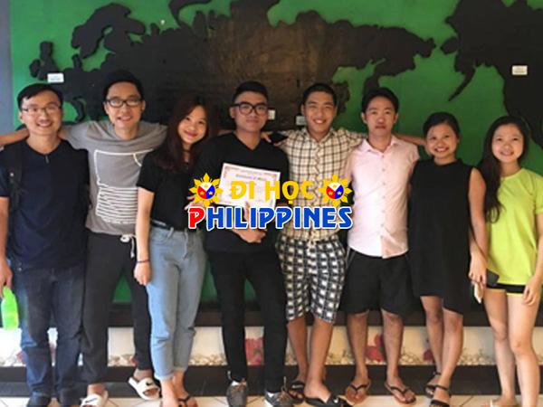 Học viên Quốc Anh (du học sinh của Việt Phương) tại trường anh ngữ C&C