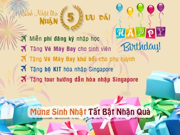 Sinh nhật lên 5 nhận 5 ưu đãi du học Singapore