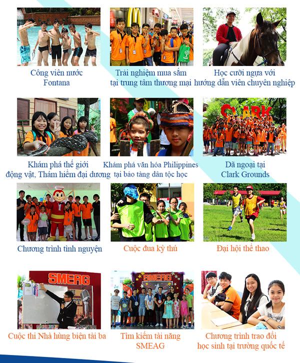 Một số hoạt động ngoại khóa khi tham gia chương trình du học hè tại trường anh ngữ SMEAG