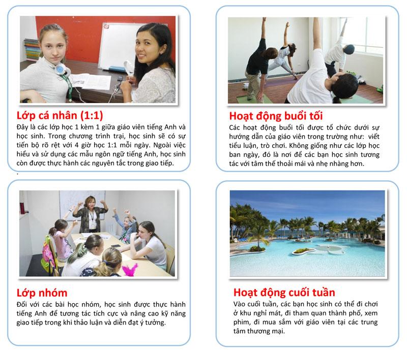 Các khóa học tại trại hè Philippines trường anh ngữ IDEA