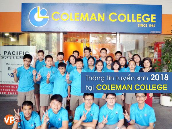 Thông tin tuyển sinh du học Singapore 2018 tại Cao đẳng Coleman Singapore