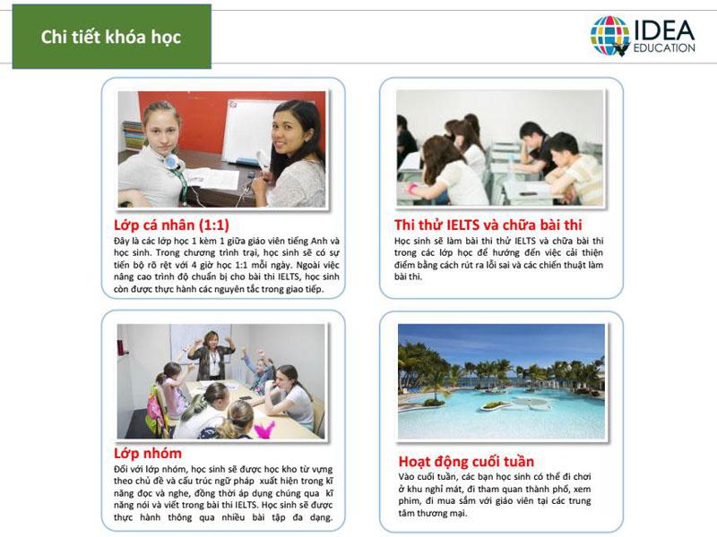 Chi tiết khóa học trại hè IELTS tại IDEA