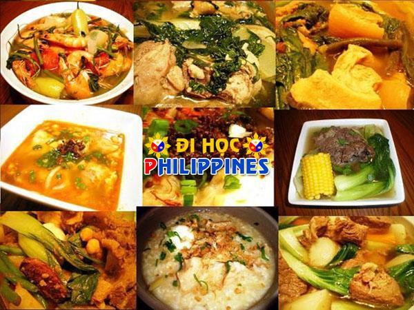 Các bạn học viên khi đến với Philippines sẽ có cơ hội được trải nghiệm nét ẩm thực đặc sắc của quốc gia này