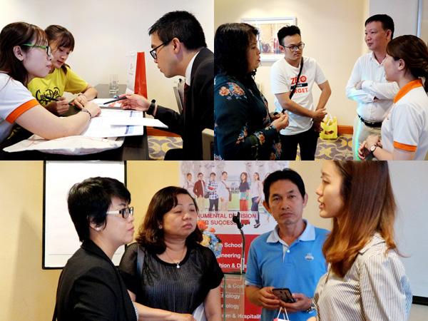 Phụ huynh học sinh luôn nhận được sự hỗ trợ nhiệt thành của VPEdu và trường MDIS trong suốt quá trình hội thảo