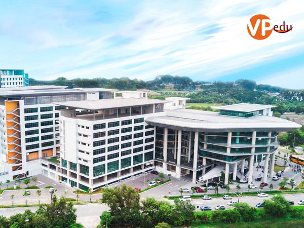 Toàn cảnh khuôn viên khu học xá mới của Đại học APU Malaysia