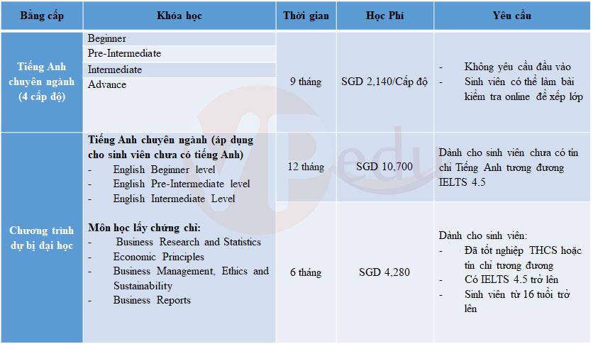 Chương trình Tiếng Anh và dự bị đại học tại học viện ERCi Singapore