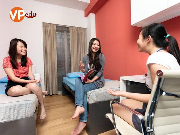 Phòng kí túc xá của học viện MDIS Singapore