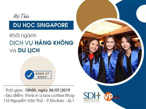 Hội thảo du học Singapore ngành dịch vụ hàng không và du lịch