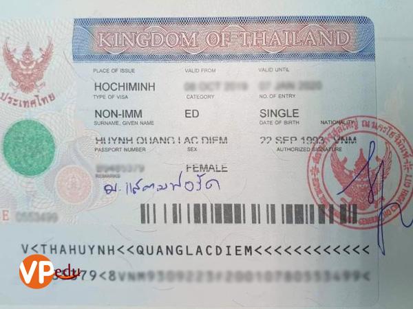 Chúc Mừng Bạn Huỳnh Lạc Diễm đậu Visa Du Học Thái Lan