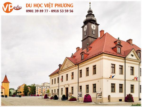 Thành phố Lubin ở Ba Lan