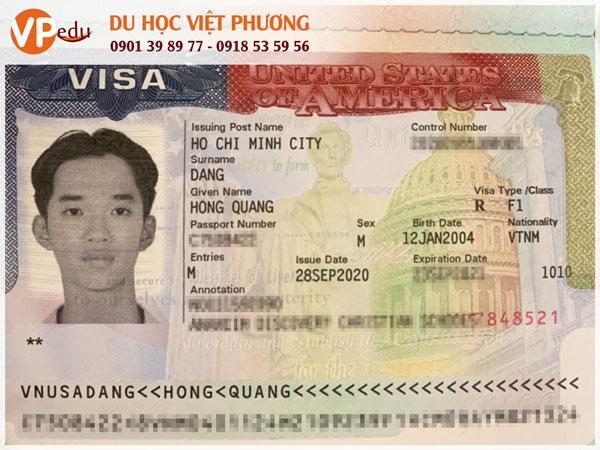Visa Mỹ Đặng Hồng Quang