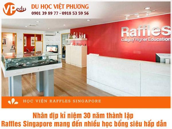 Học bổng du học Singapore 2021 tại học viện Raffles Singapore