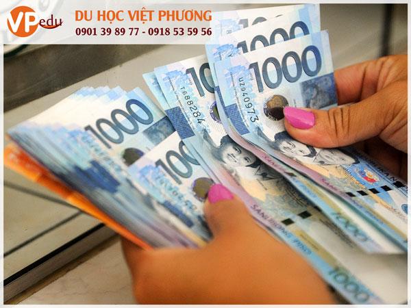 Để học tiếng Anh tại Philippines, du học sinh phải trả một số chi phí sau: chi phí nhập học, học phí và chi phí sinh hoạt (bao gồm nhà ở, phương tiện đi lại, điện nước,…) và vé máy bay khứ hồi.