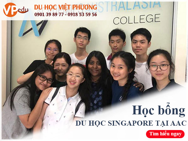 Học bổng du học Singapore  2021 tại trường AAC