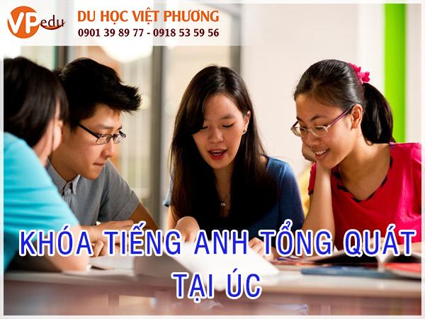 Du học Tiếng Anh ở Úc, sinh viên sẽ được học khóa tiếng anh tổng quát, khóa học này giúp cải thiện kỹ năng trình độ tiếng Anh của sinh viên một cách đáng kể